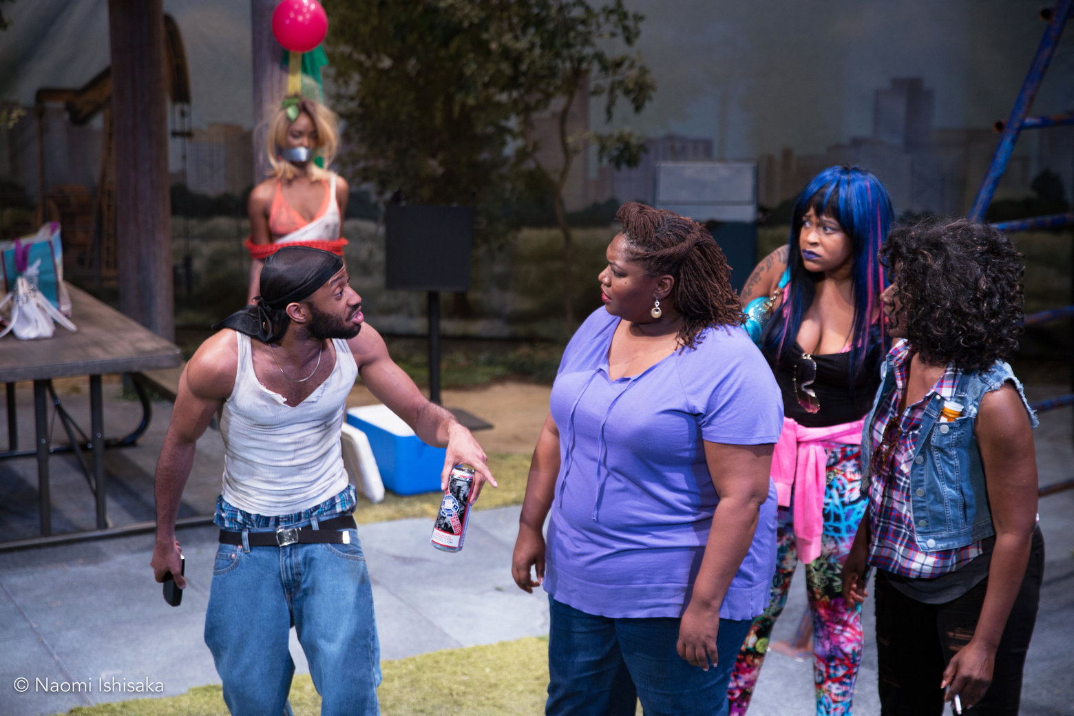 Intiman Theatre's 'Barbecue' almost literally flips the script on race — over and over again