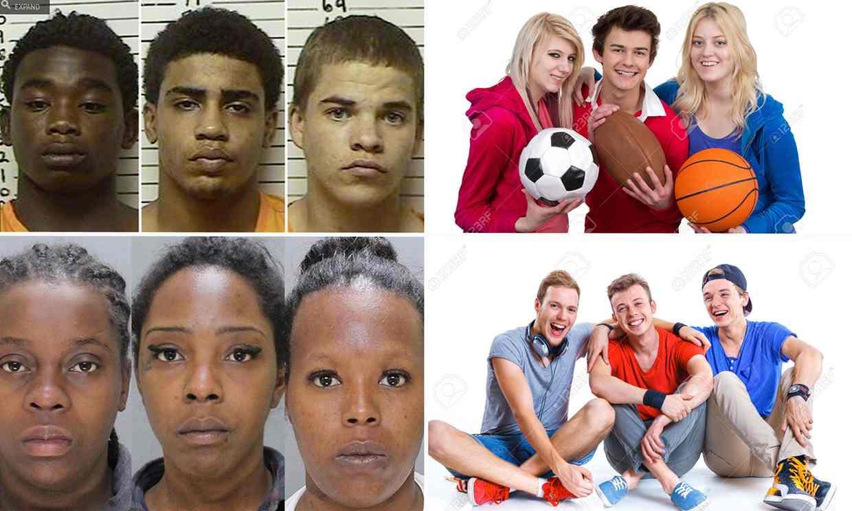 3 black teenagers